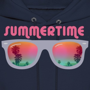 summertime sunglasses palms and beach Hoodies - Men's Hoodie