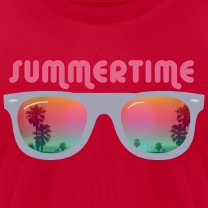 Summertime sunglasses T-Shirts - Men's T-Shirt by American Apparel