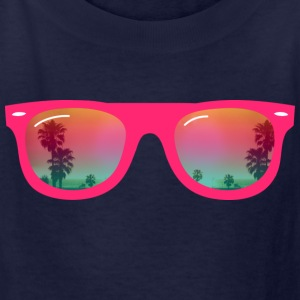 sunglasses palms and beach Kids' Shirts - Kids' T-Shirt
