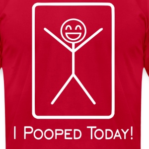 pooped T-Shirts - Men's T-Shirt by American Apparel