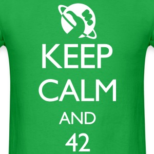 Keep Calm and 42 VECTOR T-Shirts - Men's T-Shirt