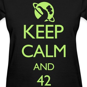 Keep Calm and 42 VECTOR Women's T-Shirts - Women's T-Shirt