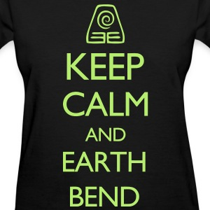 Keep Calm and Earth Bend VECTOR Women's T-Shirts - Women's T-Shirt