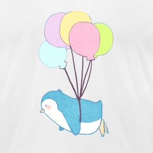 Penguins can Fly - Men's T-Shirt by American Apparel