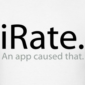 iRate - An App Caused That - iSpoof - Men's T-Shirt