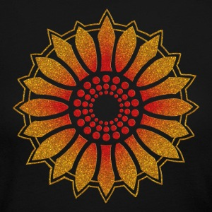 Sunflower - Follow the light!, digital glitter, symbol of vitality, joy and confidence, energy icon, symbol of green politics Long Sleeve Shirts - Women's Long Sleeve Jersey T-Shirt