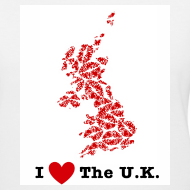 Design ~ I Love The U.K. V-Neck