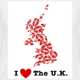 Design ~ I Love The U.K. V-Neck