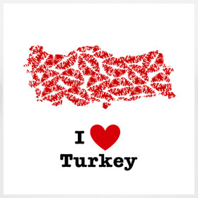 Design ~ I Love Turkey V-Neck