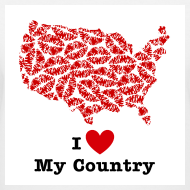 Design ~ I Love My Country USA V-Neck