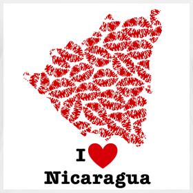 Design ~ I Love Nicaragua V-Neck