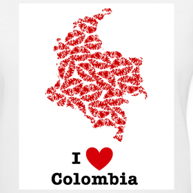 Design ~ I Love Colombia V-Neck