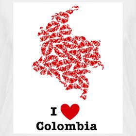 Design ~ I Love Colombia V-Neck