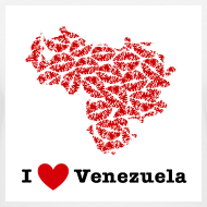 Design ~ I Love Venezuela V-Neck