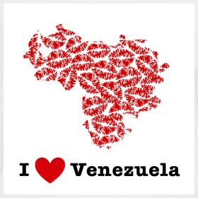 Design ~ I Love Venezuela V-Neck