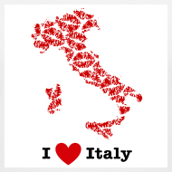 Design ~ I Love Italy V-Neck