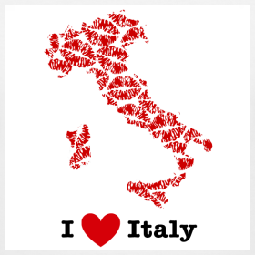 Design ~ I Love Italy V-Neck