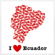 Design ~ I Love Ecuador V-Neck