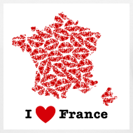 Design ~ I Love France V-Neck