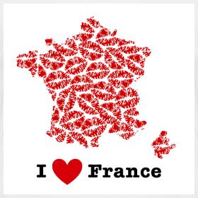 Design ~ I Love France V-Neck