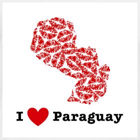 Design ~ I Love Paraguay V-Neck