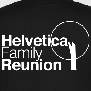 helvetica family reunion T-Shirts - Men's V-Neck T-Shirt by Canvas