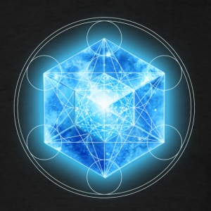 Metatrons Cube with TESSERACT, Hypercube 4D, digital, Symbol - Dimensional Shift,  T-Shirts - Men's T-Shirt