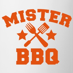 MISTER BBQ barbecue with grilling fork spatula and stars Gift - Coffee/Tea Mug