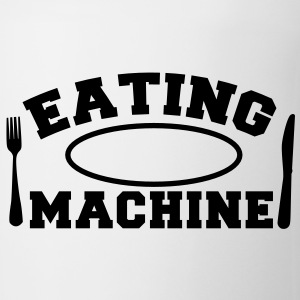 EATING MACHINE! with knife and fork and plate Gift - Coffee/Tea Mug