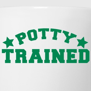 potty trained in funky college font Gift - Coffee/Tea Mug