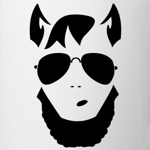 wolf man funky trendy face Gift - Coffee/Tea Mug
