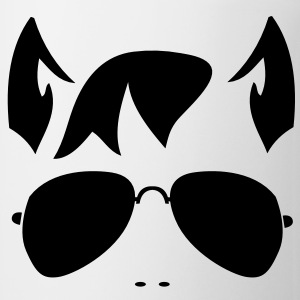 wolf man face in funky sunnies and wolfy ears Gift - Coffee/Tea Mug