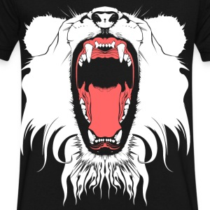 LION HEAD T-Shirts - Men's V-Neck T-Shirt by Canvas