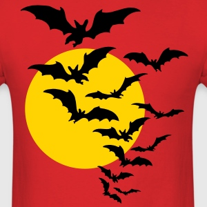 Moon & Bats TWO COLOR VECTOR T-Shirts - Men's T-Shirt