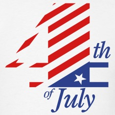 4th of July TWO COLOR VECTOR T-Shirts