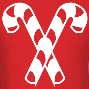 Candy Canes VECTOR T-Shirts - Men's T-Shirt