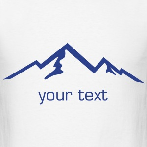 Mountain, Mountains, Hiking T-Shirts - Men's T-Shirt