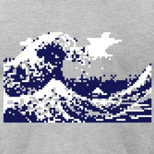 Pixel Tsunami T-Shirts - Men's T-Shirt by American Apparel