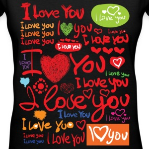 I LOVE You - Women's V-Neck T-Shirt