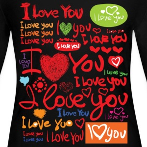I LOVE You - Women's Long Sleeve Jersey T-Shirt