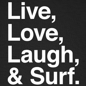 Live , love , laugh and surf Caps - Baseball Cap