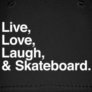 Live , love , laugh and skateboard Caps - Baseball Cap