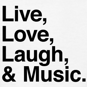 Live , love , laugh and music Kids' Shirts - Kids' T-Shirt