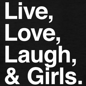 Live , love , laugh and girls Kids' Shirts - Kids' T-Shirt