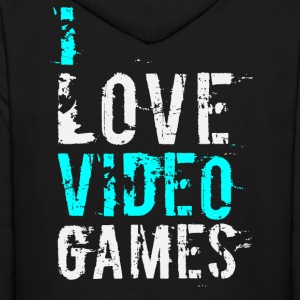 i love video games v1 Hoodies - Men's Hoodie