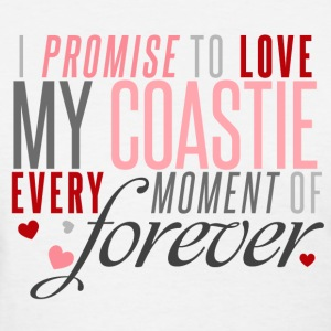 I Promise to Love my Coastie every Moment of Forever - Women's T-Shirt
