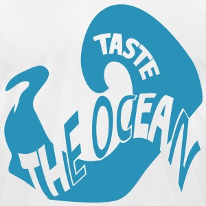 taste the ocean T-Shirts - Men's T-Shirt by American Apparel