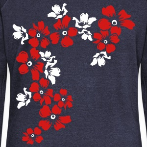 flowers Long Sleeve Shirts - Women's Wideneck Sweatshirt