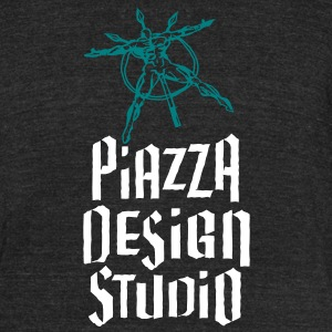 Piazza Design Studio Logo T-Shirts - Unisex Tri-Blend T-Shirt by American Apparel