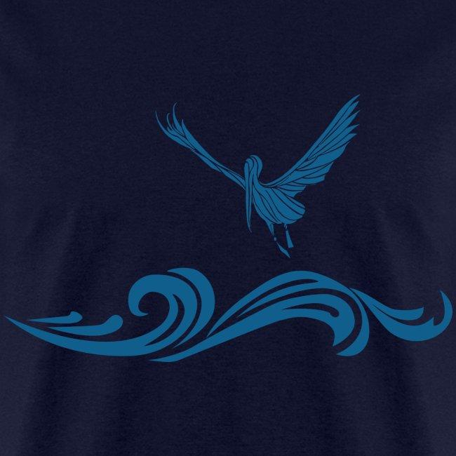 "Navy Blue ""Pelican"" T-Shirt for Men"